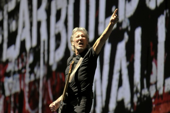 "Roger Waters is building ""The Wall"" live in concert  Friday at Wrigley Field, Chicago. June 8, 2012. 