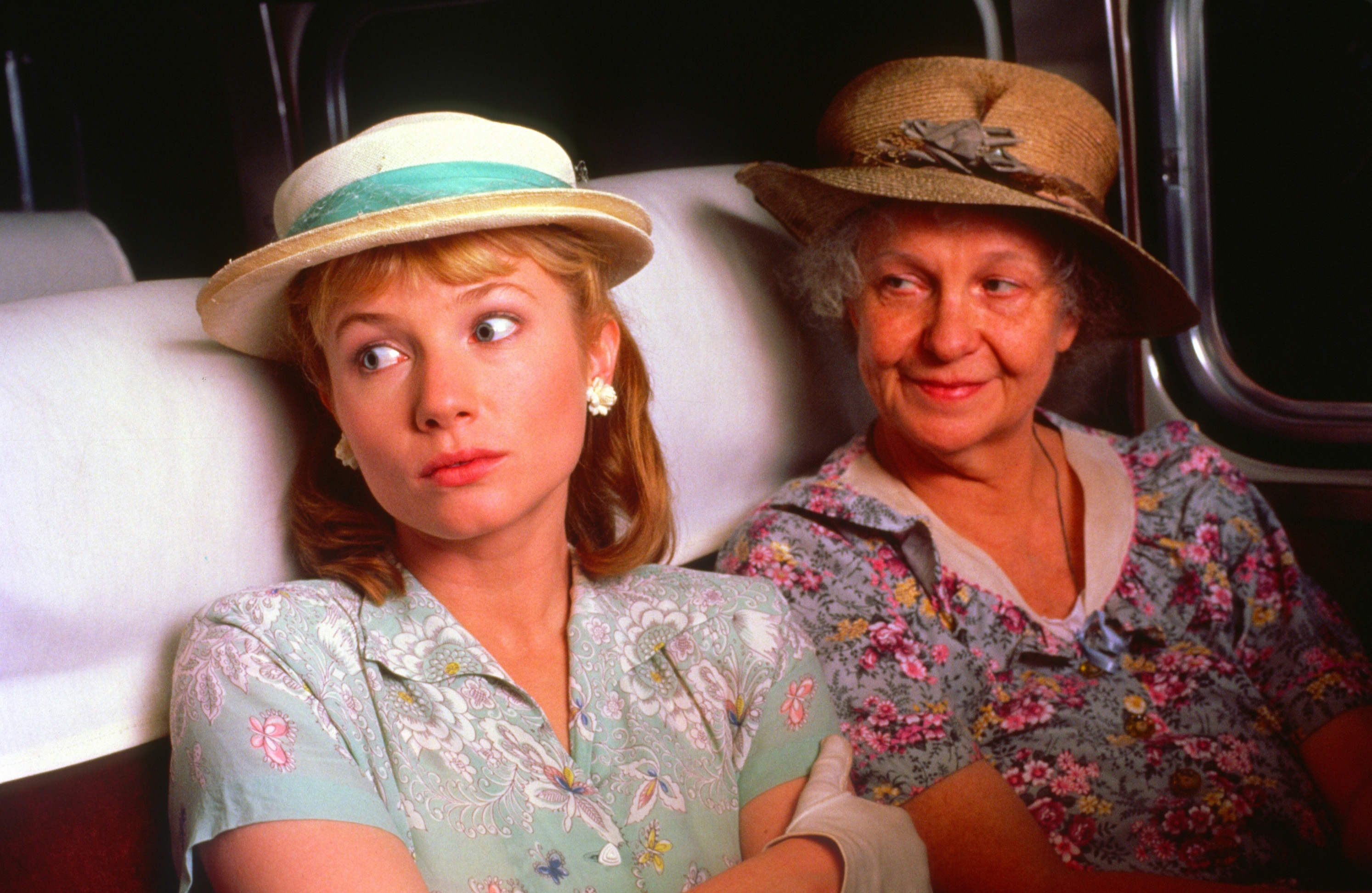 The Trip to Bountiful (1985) Directed by Peter Masterson Shown from left: Rebecca De Mornay, Geraldine Page